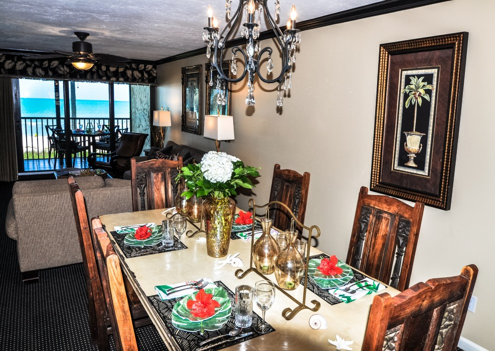 Family size table for dining and games