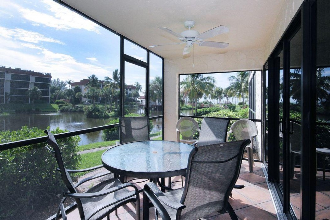 This is our lanai which looks out at the Gulf of Mexico as well as the lagoon.