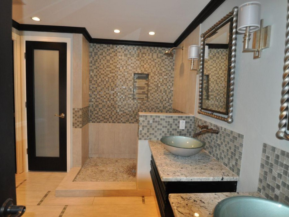 Renovated baths include state of the art shower and fixtures