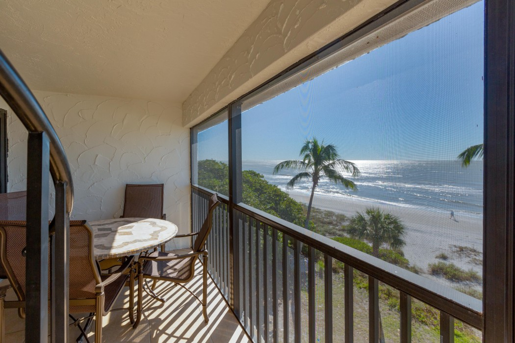 View from Master Suite to Beach and Lanai