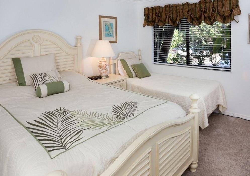 Guest bedroom sleeps up to 3 people.