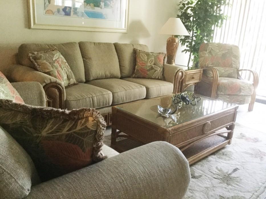 New living room furniture.