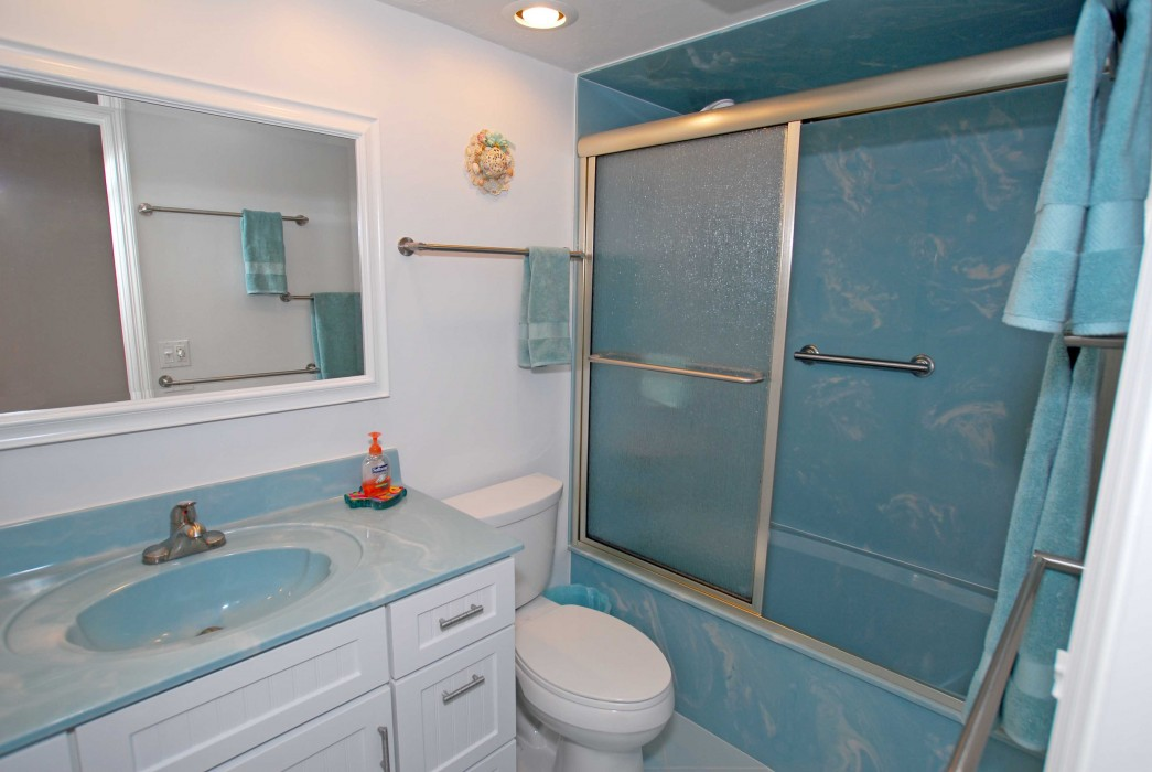 Updated Guest Bathroom with marble.