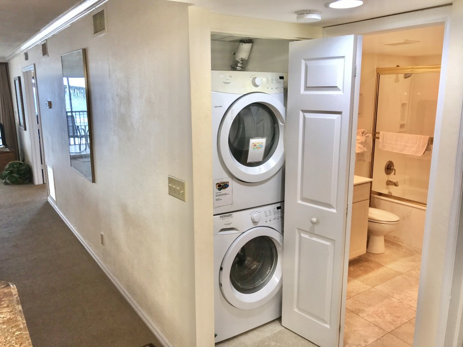 A full size washer and dryer