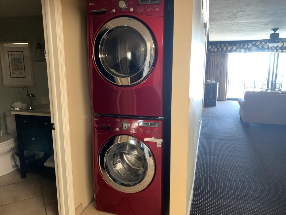 Full size front load washer and dryer