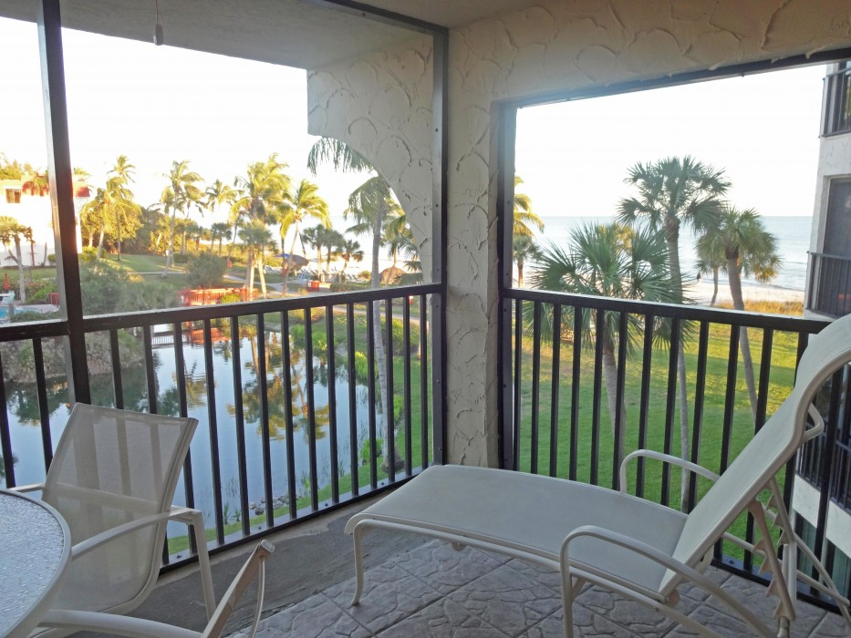 Put your feet up and enjoy the view on our lanai!