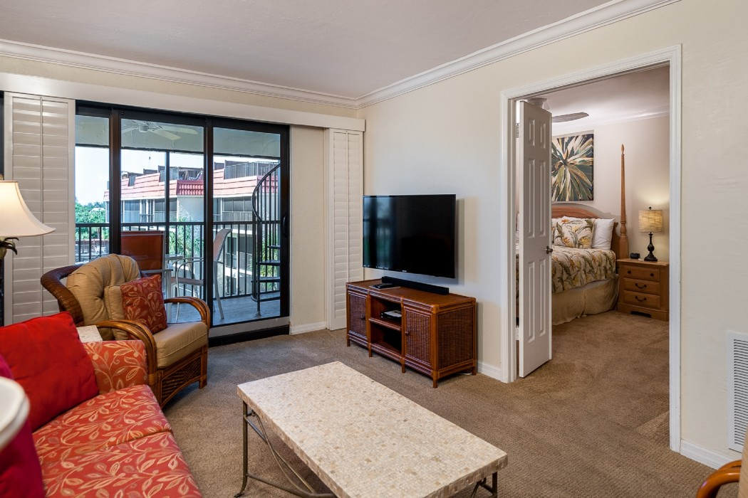The family room has ample seating and HDTV for watching favorite movies and shows! Stream music thru the soundbar.