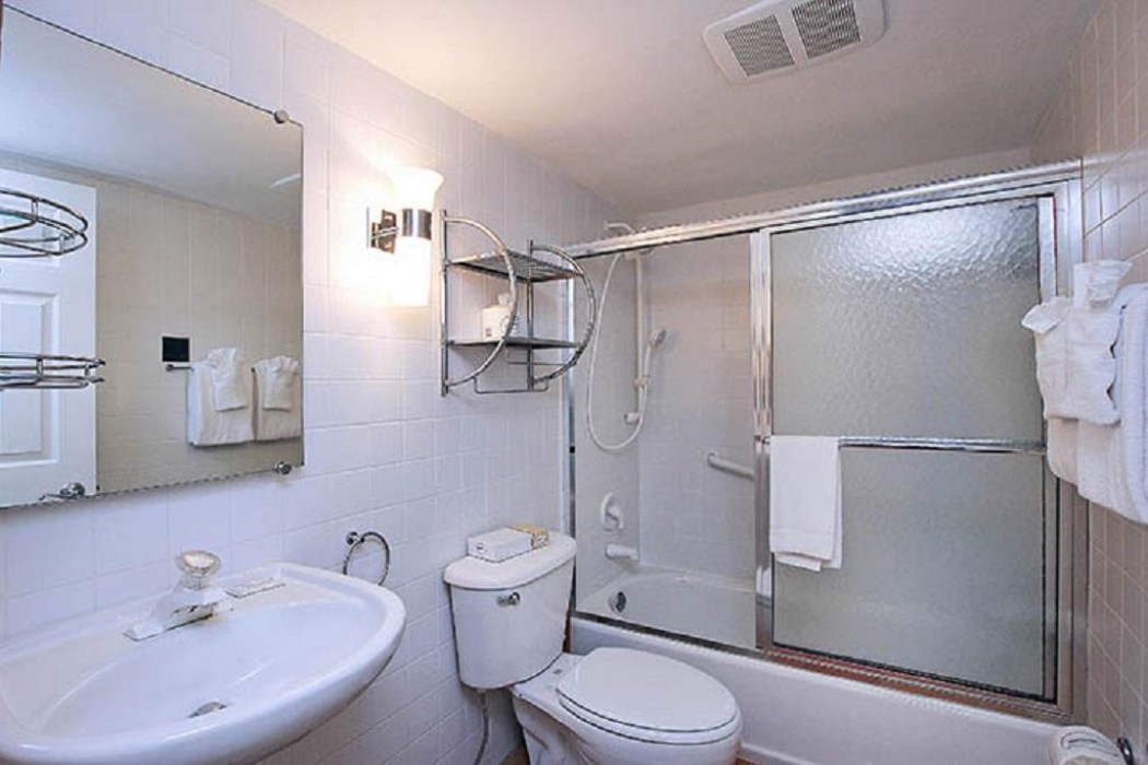 Guest bathroom - combination tub/shower