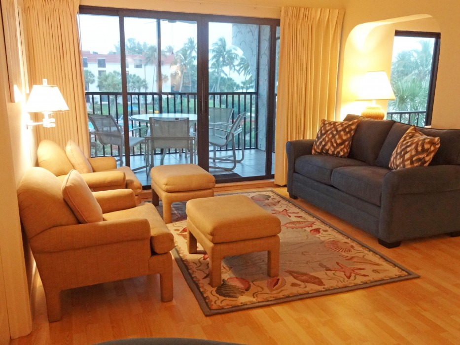 Relax in our spacious living room or...