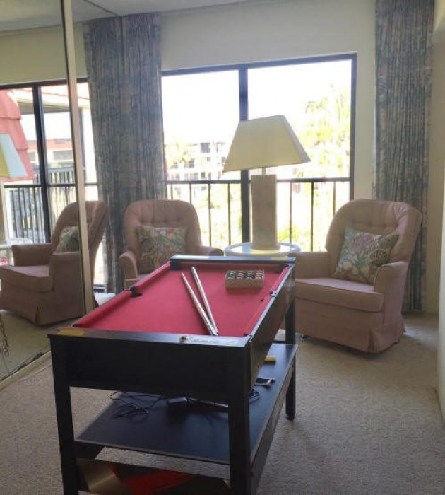 Bonus room with extra seating and a game table