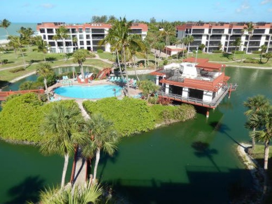 Sundeck view of pool, beach and Gulf of Mexico